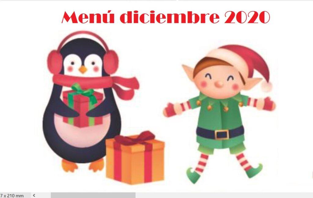 Menú Diciembre 2020
